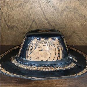 Bogo-Vegan Leather cowboy hat- 9